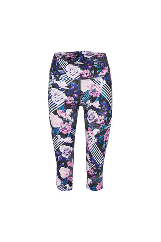 Polka Dot Runner High Waist Activewear & Yoga Printed Legging - Crop