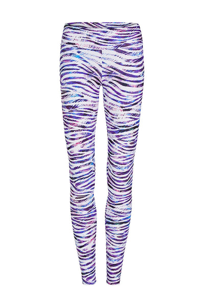 Zebra Wave Printed Legging - Full Length