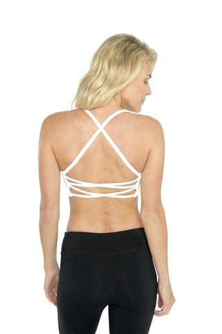 Qi Flow Bra - White