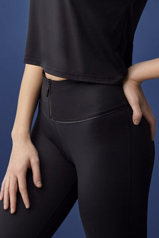 Zeta Crop Legging - Black