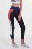 Whirl 7/8 Legging - Black Navy Orange Blush