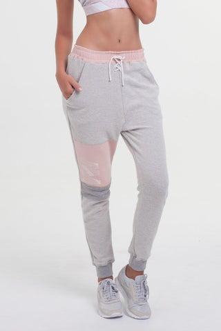 Hustle Sweat Pants - Grey Blush