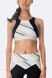 Drive Crop - Black Stripe Blush