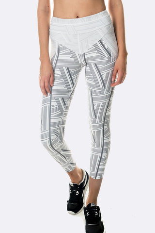 Viper 7/8 Legging - Grey White Print