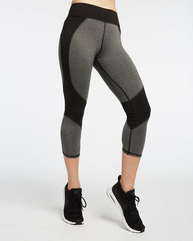 Impulse Crop Legging - Gray