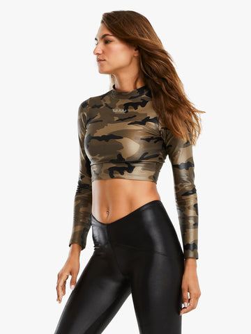 Luca Infinity Crop Top Camo