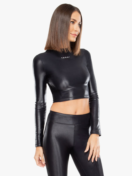 Luca Infinity Crop Top Black