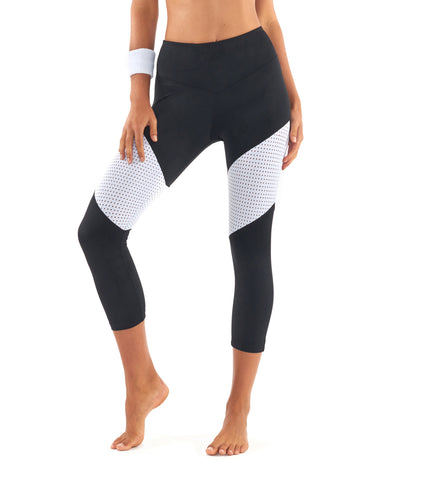 Race Ready 3/4 Legging - Black / White
