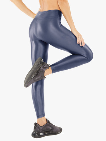 Lustrous High Rise Legging Midnight Blue