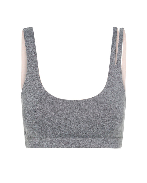 Simone Bralette - Heather Grey with Blush