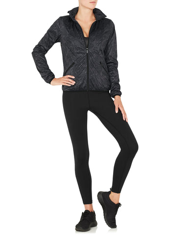 Shay Running Jacket Black Python