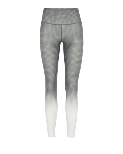 Rockell 7/8 Compression Tight - Grey Ombre Grid