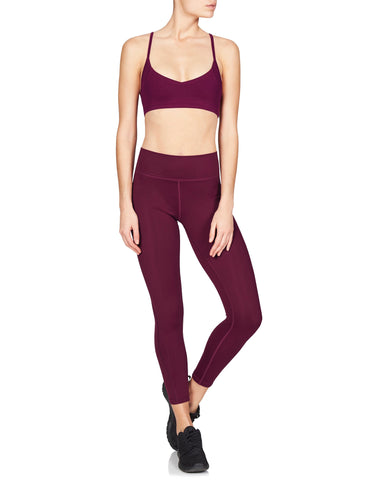 Zanna 7/8 Compression Tight - Supplex Black Cherry