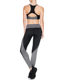 Layla Zippered Sports Bra - Black / Grey