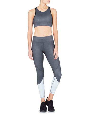 Riley 7/8 Compression Tight - Black Herringbone