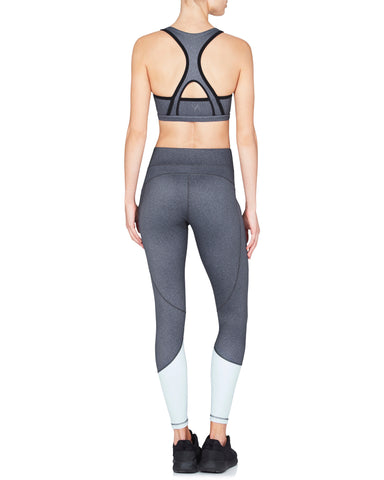 Alyssa Sports Bra - Black Herringbone