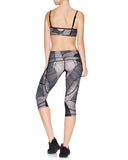 Riley Knee Crop Compression Tight Midnight Palm