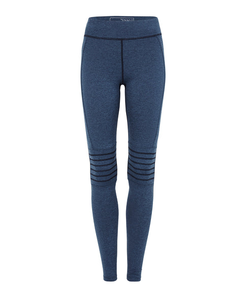 Rebekka Full Length Moto Tights - Heather Blue