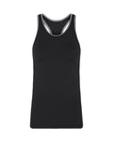 Alison Performance Racerback Tank - Black / Grey