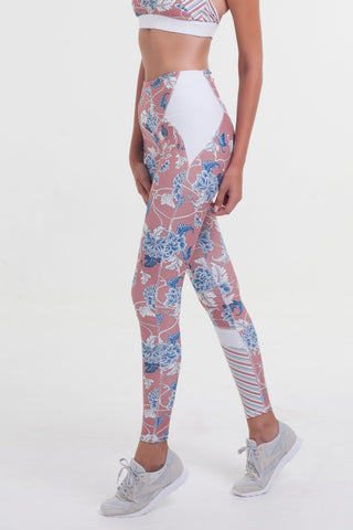 Vortex Full Length Legging - Shanghai Floral