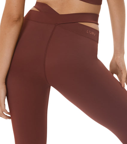 Evolution 3/4 Legging - Rust