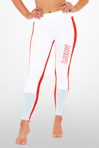Autopilot 7/8 Legging - White / Red