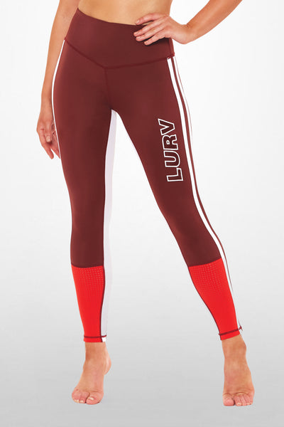 Supersonic Me 7/8 Legging - Burgundy