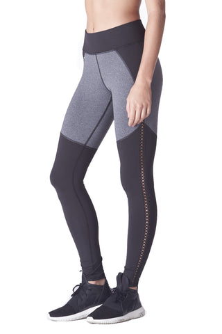 Barre Legging - Black/Heather Grey