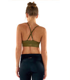 Leather Lust Bralette - Olive
