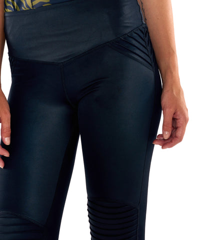 Leather Lust Moto Legging - Black