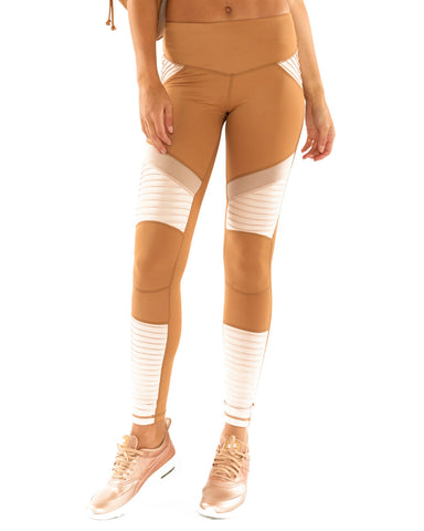 Fever Pitch Moto Legging - Tan