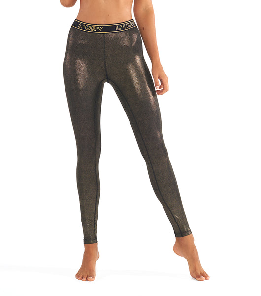 All That Glitters Legging - Gold