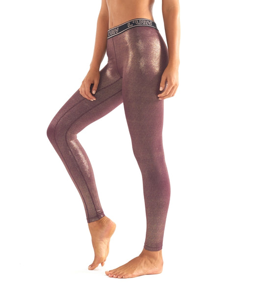 All That Glitters Legging - Fig