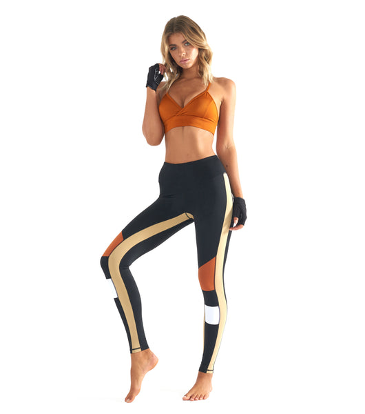 Burn It Up Legging - Black / Orange