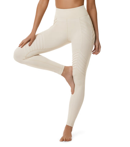 New Begginings Moto Legging  - Creme