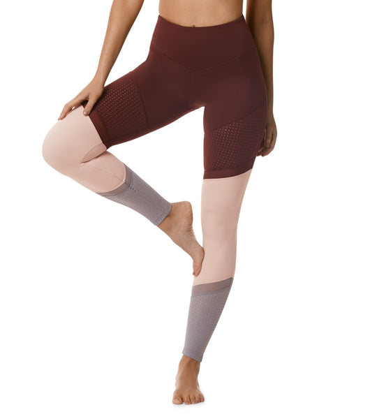 Time And Space Legging - Rust / Blush