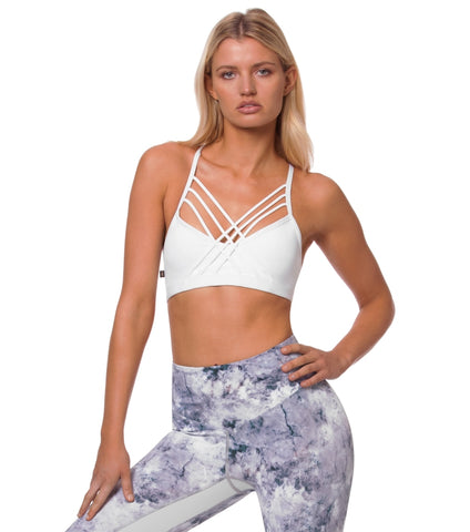Crashing Waves Bra - White