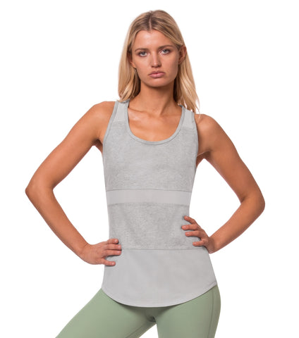 One Body Mesh Cami - Grey Marble
