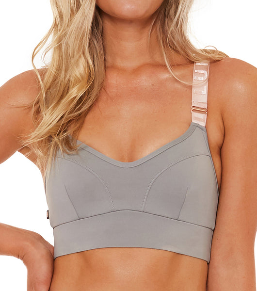 The Last Dance Logo Bra - Dusty Teal