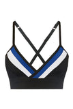 My Squardron Bralette - Black / Blue