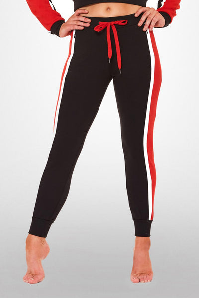 On Target Crop Pant- Black / Red