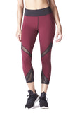 Radiate Crop Legging - Shiraz/Black