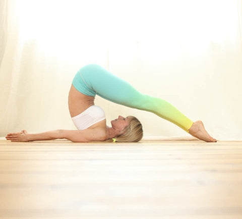 Flexi Yoga Pants Mint Neon Yellow Ombre