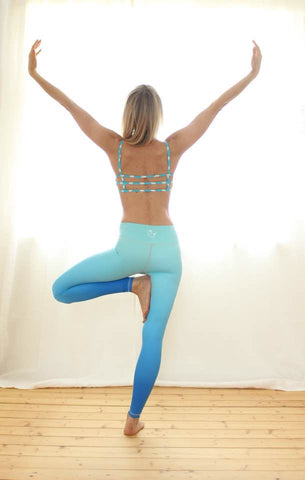 Flexi Yoga Pants Blue Ombre