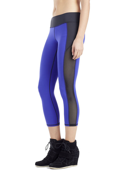 Stardust Crop Legging - Indigo / Black