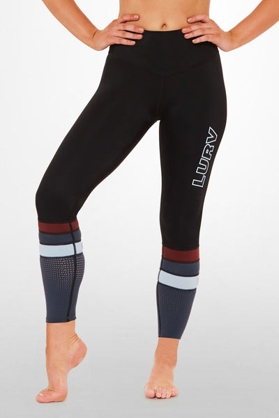 Air Patrol  7/8 Legging - Black / Blue