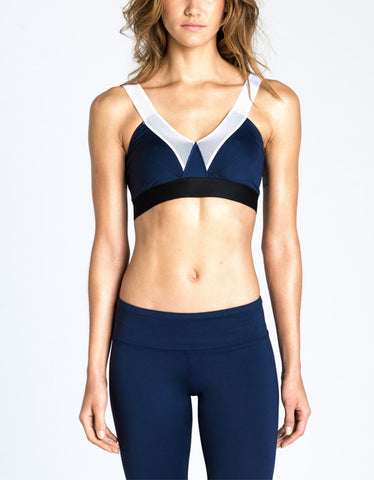 V Bra - Navy / White