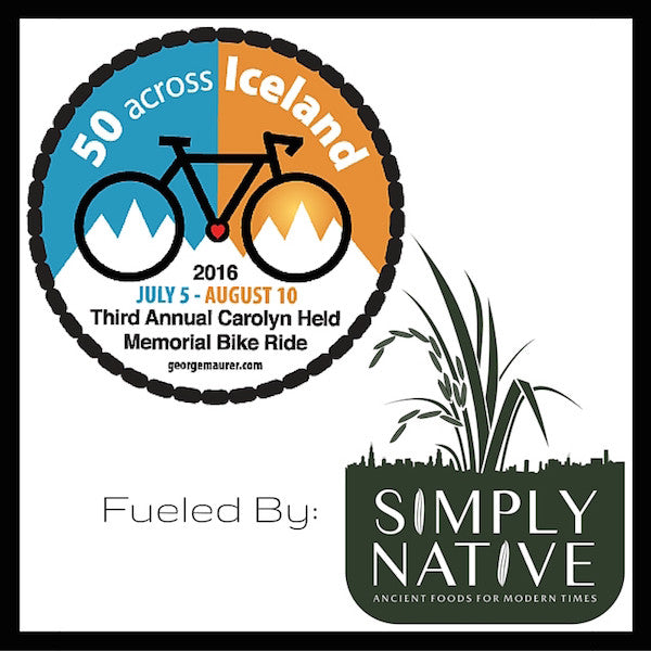 Simply Native Partners with the Adventure Cyclist George Maurer to Raise Money to Cure Cancer