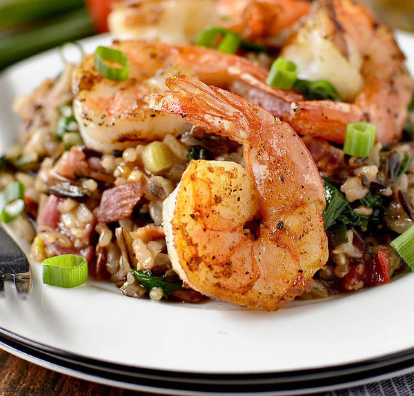 Simply Native Shrimp FRIED Wild Rice!