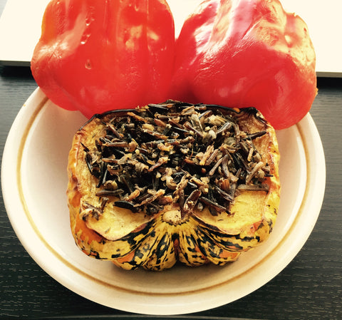 Native Foods: Festival Squash Stuffed with Wild Rice Cereal